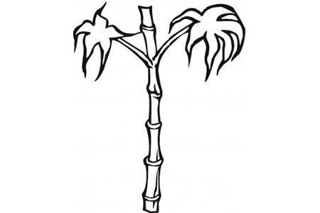 一根竹子的画法