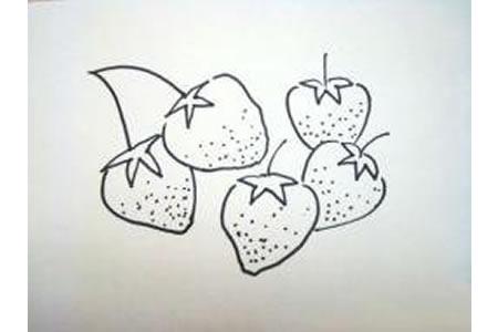 草莓的简笔画画法