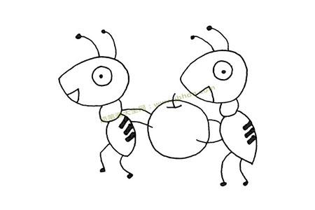 两只蚂蚁搬苹果