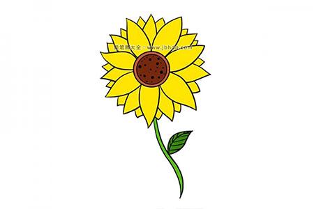 很容易学会的向日葵简笔画