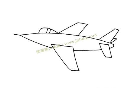 简单的战斗机轮廓简笔画图片