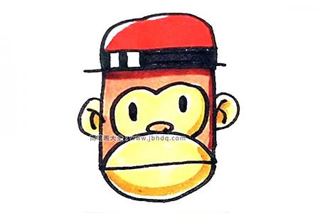 戴帽子的猴头