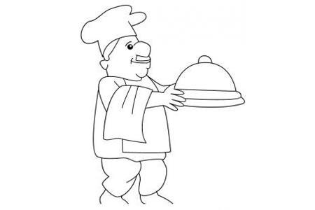 厨师简笔画