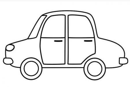 卡通小轿车怎么画