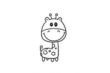 动物简笔画 小小的长颈鹿简笔画图片