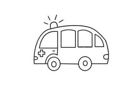 幼儿救护车简笔画画法