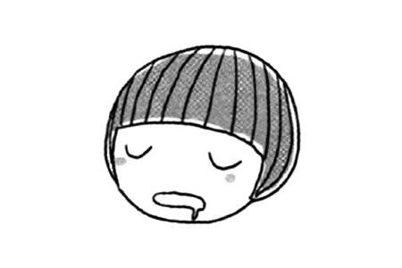 睡着的表情简笔画教程