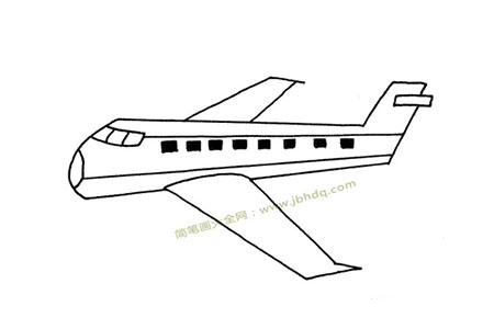飞行的客机简笔画图片