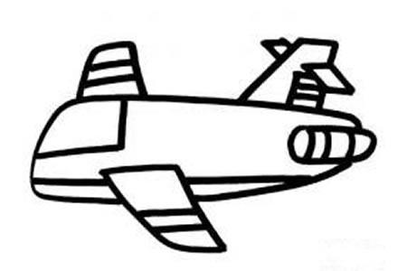 卡通飞机简笔画