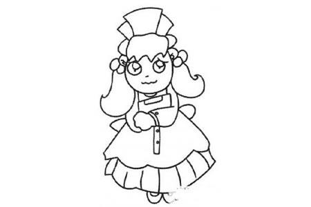 卡通护士简笔画