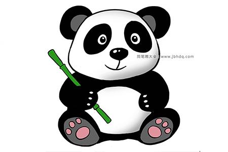 超详细大熊猫简笔画步骤