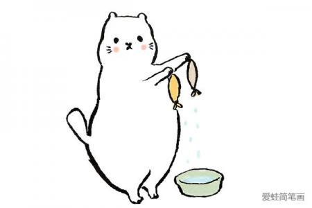 一组肥猫简笔画