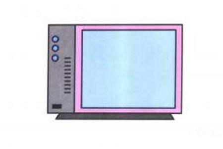 老式电视机简笔画画法