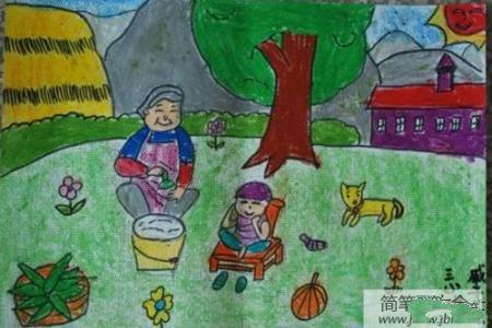 端午节题材绘画-和奶奶包粽子