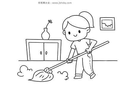 小女孩做家务
