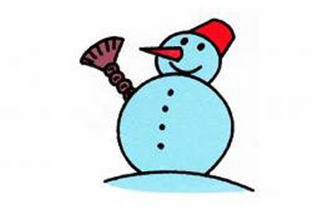 雪人简笔画画法