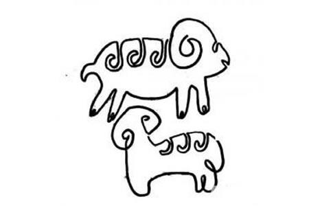 一笔画绵羊的画法