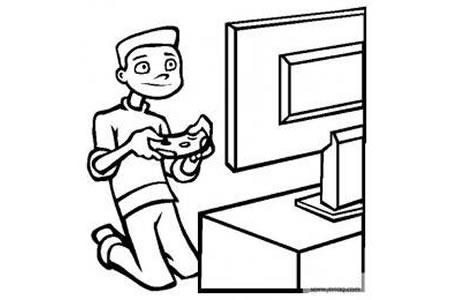 儿童玩具图片 电子游戏简笔画图片