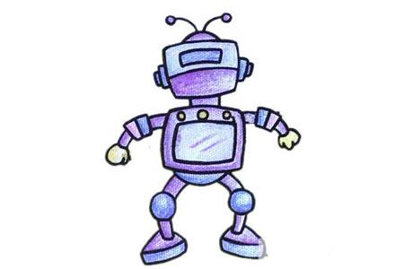 简单的机器人简笔画教程