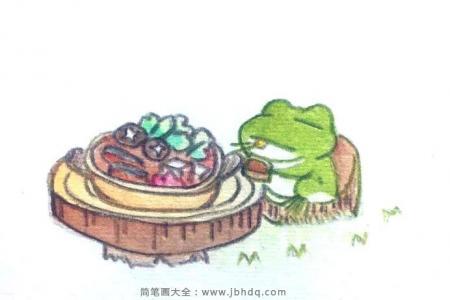 旅行青蛙吃东西