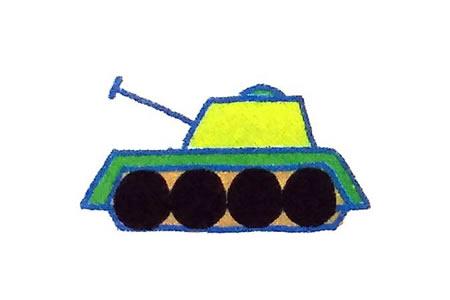 运用简单几何图形画坦克