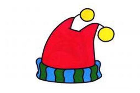 毛线帽简笔画图片