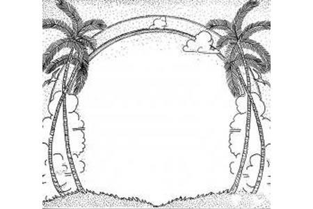 棕榈树花边