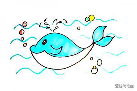 可爱的鲸鱼怎么画