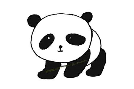 可爱的大熊猫简笔画图片