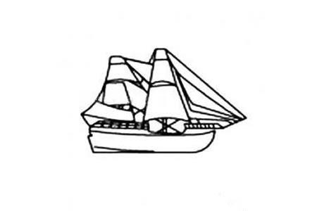 小帆船简笔画图片