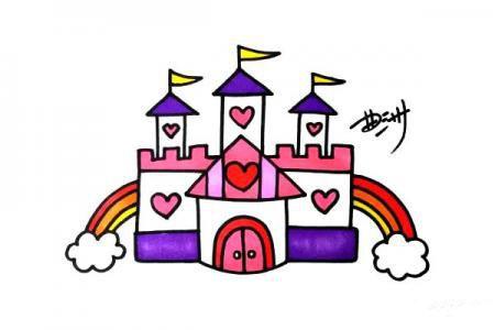 公主城堡简笔画