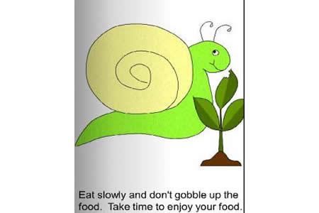 害羞的小蜗牛