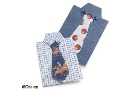 """""""衬衫领带""""特色父亲节贺卡的手工制作方法"""