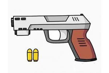 玩具枪简笔画画法