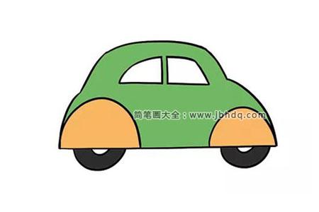 漂亮的绿色小汽车