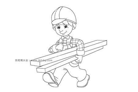 搬木头的工人