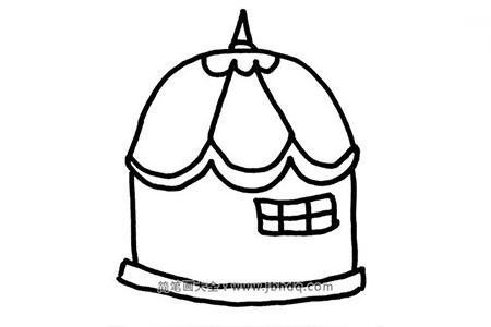 2张蒙古包的简笔画图片