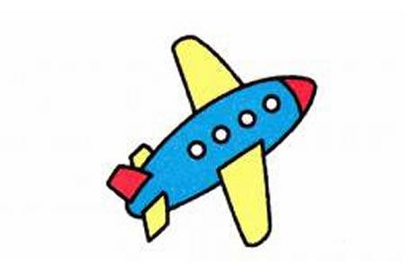 可爱飞机的简笔画画法