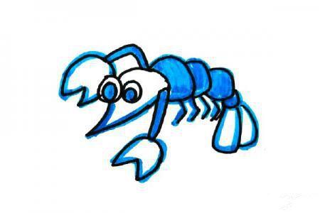 海洋风格虾的画法