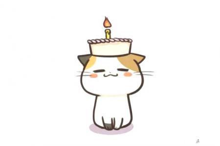 一组可爱的小猫咪简笔画