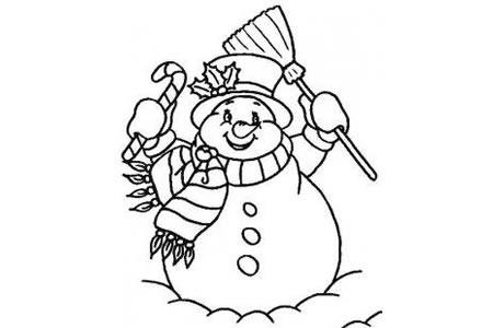 雪人简笔画
