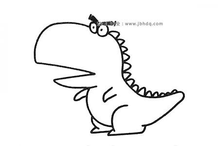 一组卡通恐龙简笔画图片