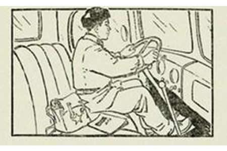 雷锋叔叔开车简笔画