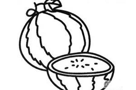香甜的西瓜简笔画画法