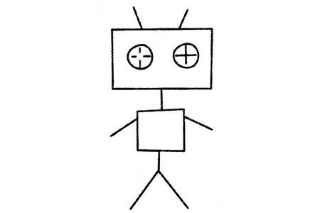机器人简笔画大全及画法步骤