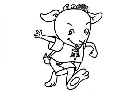 卡通山羊简笔画图片