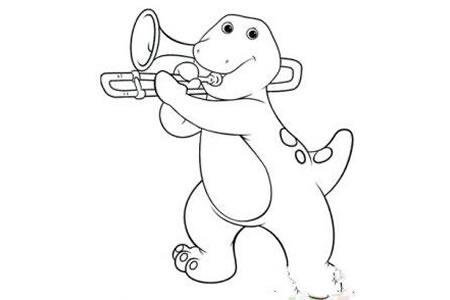 吹喇叭的恐龙