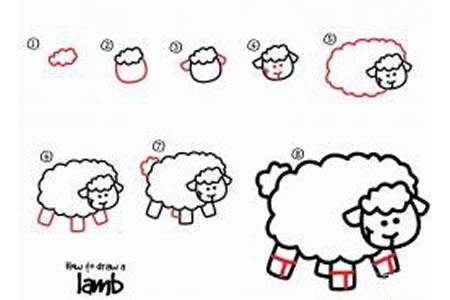 如何画小绵羊 小绵羊简笔画教程