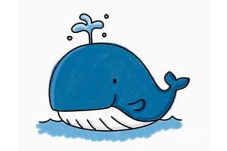 鲸鱼简笔画图片