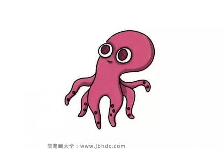 画一只可爱的章鱼